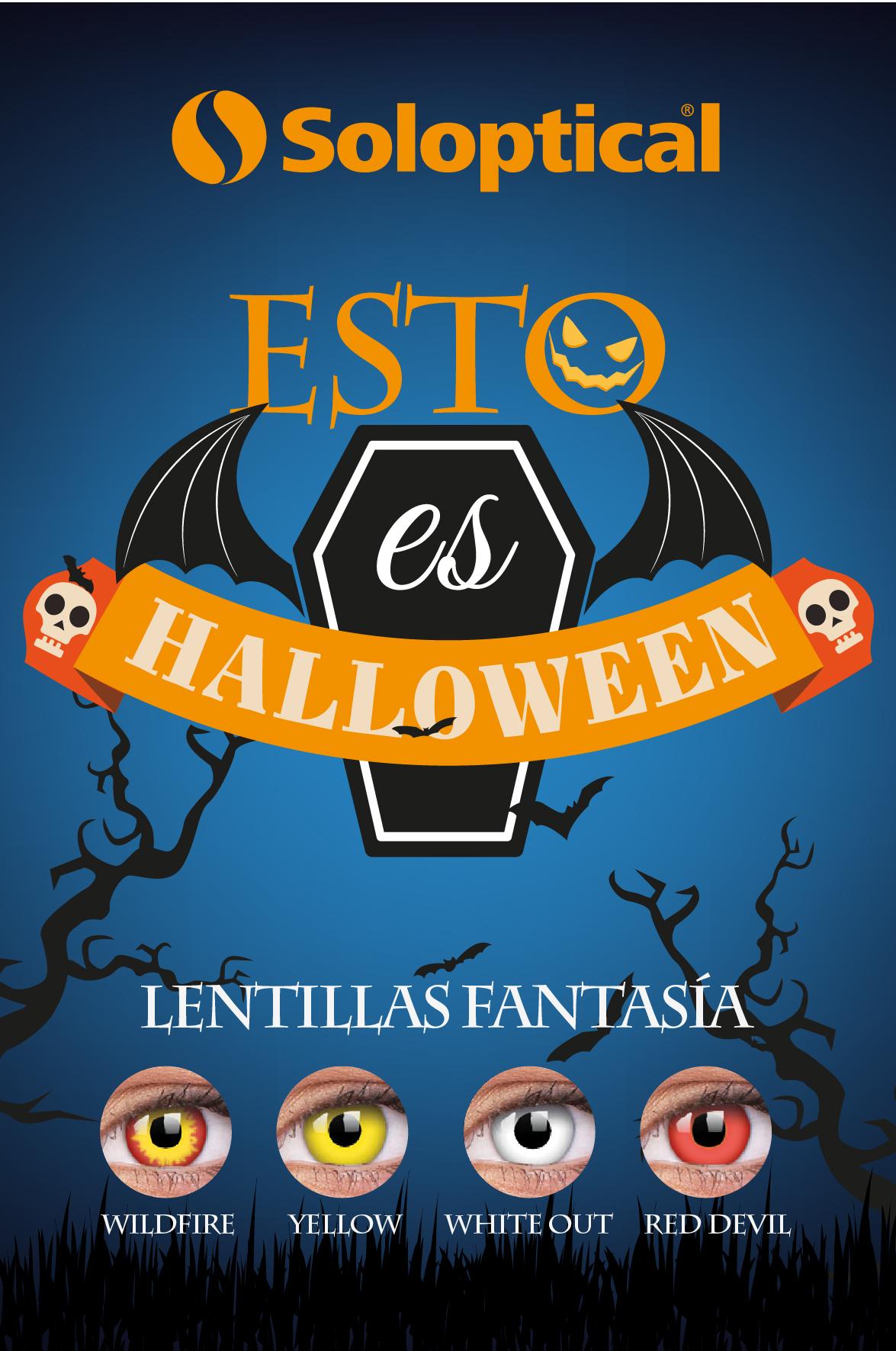 Lentillas de miedo para disfraz de Halloween