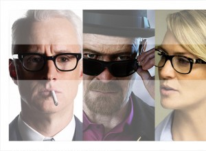 Adictos a las gafas. Breaking Bad, Madmen, Houseofcards.